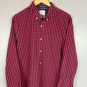 Cactus Man Slim fit checked red blue shirt XL